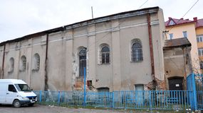老犹太教堂在乔尔特基夫 免版税图库摄影