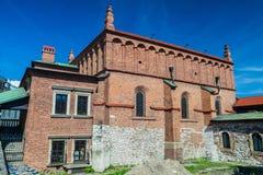 老犹太教堂在克拉科夫,波拉 库存照片