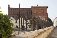 老犹太教堂在克拉科夫- kazimierz犹太区在波兰 免版税图库摄影