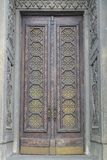 老犹太教堂在基辅,进口修剪细节 免版税库存照片