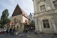 老犹太教堂在布拉格 免版税库存照片