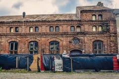 老犹太教堂在波兰 库存图片
