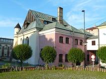 老犹太教堂在热舒夫,波兰 免版税库存照片