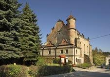 老犹太教堂在莱斯科 波兰 免版税库存照片