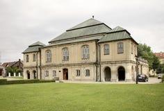 老犹太教堂在Wlodawa 波兰 免版税库存照片