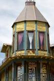 老狂放的西部镇大厦 免版税库存图片