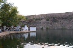 老猎物用水, Kamensk-Shakhtinsky镇的居民的休息处填装了  库存图片