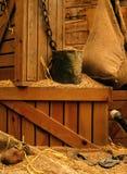 老玉米磨房 库存照片
