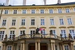 老王宫的门面,布拉格城堡复合体 库存照片