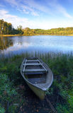 老瑞典小船 免版税库存照片