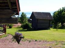 老瑞典村庄Fryksas 免版税库存图片