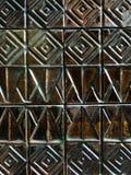 老瓦片墙壁 免版税图库摄影