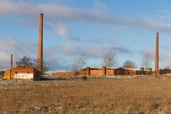 老瓦片工厂 库存照片