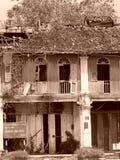 老瓷中国人马来半岛艺术传统房子 免版税库存照片