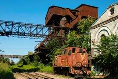 老生锈的俄国火车 库存照片