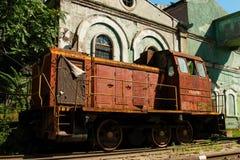 老生锈的俄国火车 库存图片