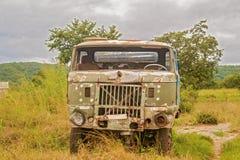 老生锈的卡车在赞比亚 免版税图库摄影