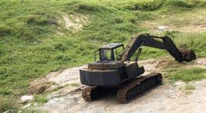 老生锈的挖掘者 免版税库存照片