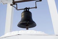 老生锈的教堂钟 免版税库存图片