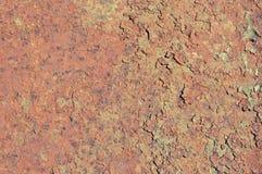 老生锈的被绘的铁 库存照片