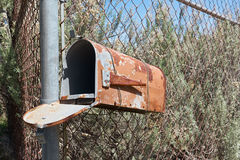 老生锈的邮箱 图库摄影