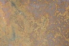 老生锈的金属墙壁纹理抽象特写镜头  免版税库存图片