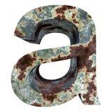 老生锈的金属字体 库存例证