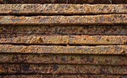 老生锈的金属条织地不很细背景 免版税库存照片