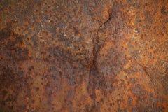 老生锈的金属纹理与裂缝的 库存图片