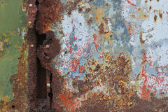 老生锈的金属表面 库存图片