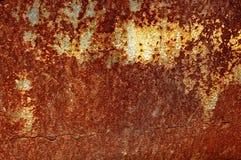 老生锈的金属铁板料的纹理 铁锈纹理背景 免版税库存照片