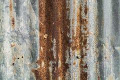 老生锈的钢板作为背景 免版税库存图片
