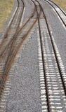 老生锈的铁路 库存图片