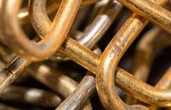 老生锈的链子作为背景 免版税库存照片