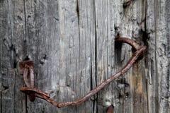 老生锈的门把手 免版税库存照片