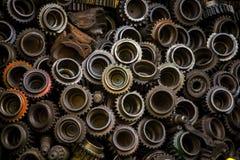 老生锈的齿轮的零件 图库摄影