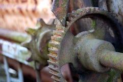 老生锈的齿轮 免版税库存图片