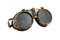 老生锈的steampunk风镜 免版税图库摄影