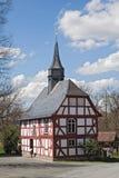 老用木材建造的教会 免版税库存图片