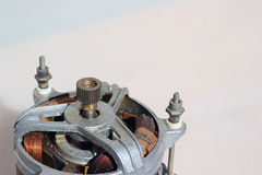 老电动机,背景图象 免版税库存照片