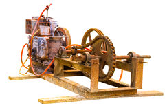 老电发电器 库存图片