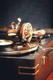 老电唱机留声机 免版税库存图片
