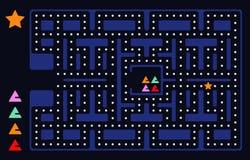 老电子游戏正方形 皇族释放例证