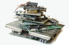 老电子零件 库存照片