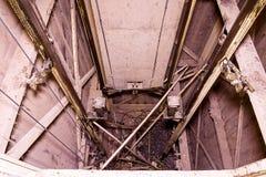 老电梯 举重建 行业对象 特写镜头 库存图片