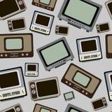 老电视无缝的纹理 库存图片