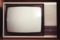 老电视机特写镜头  免版税图库摄影