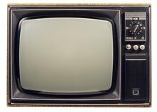 老电视葡萄酒 免版税库存照片