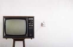 老电视葡萄酒 图库摄影