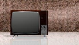 老电视葡萄酒 库存图片